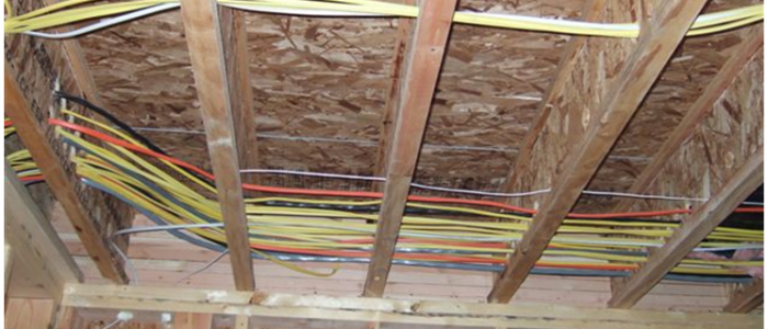 Phone wiring attic